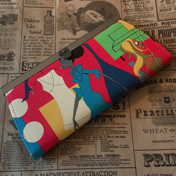 3 for $25 NWOT Funky Fashion Wallet in PVC